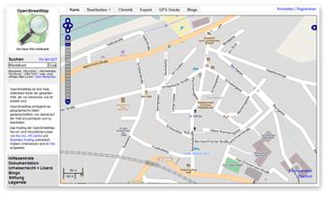 Kartenmaterial bei OpenStreetMap