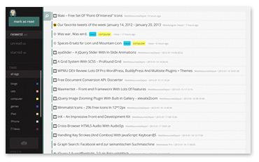 RSS-Feeds lesen mit selfoss