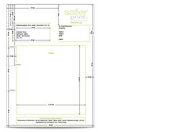 Gratis Layouthilfe Für Die Anlage Ihres Briefbogens Saferprint