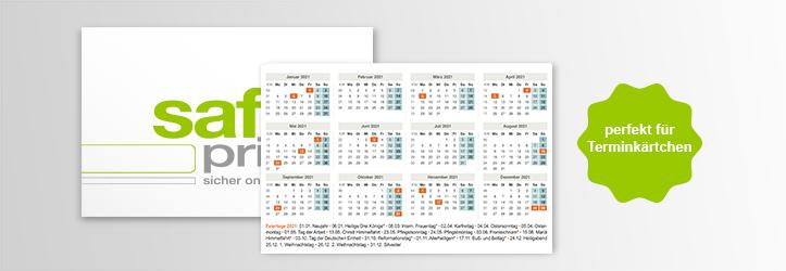 Visitenkarten Mit Kalender Rückseite Drucken Saferprint