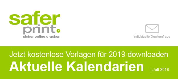 Newsletter Juni 2018-B / Jetzt kostenlose Vorlagen für 2019 downloaden Aktuelle Kalendarien