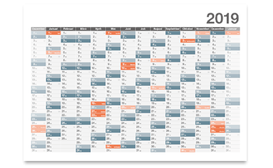 Vorlagen für Jahrsplaner