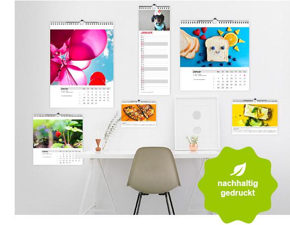 Kalender, nachhaltig gedruckt