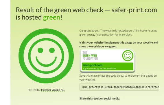 www.safer-print.com is hosted green!