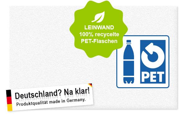 Leinwand 100% recycelte PET-Flaschen