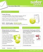Newsletter von März 2013