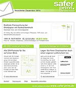 Newsletter von Dezember 2014