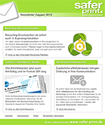 Newsletter von August 2015